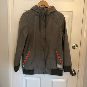 Gray and Pink Empyre Snow Jacket Size Medium